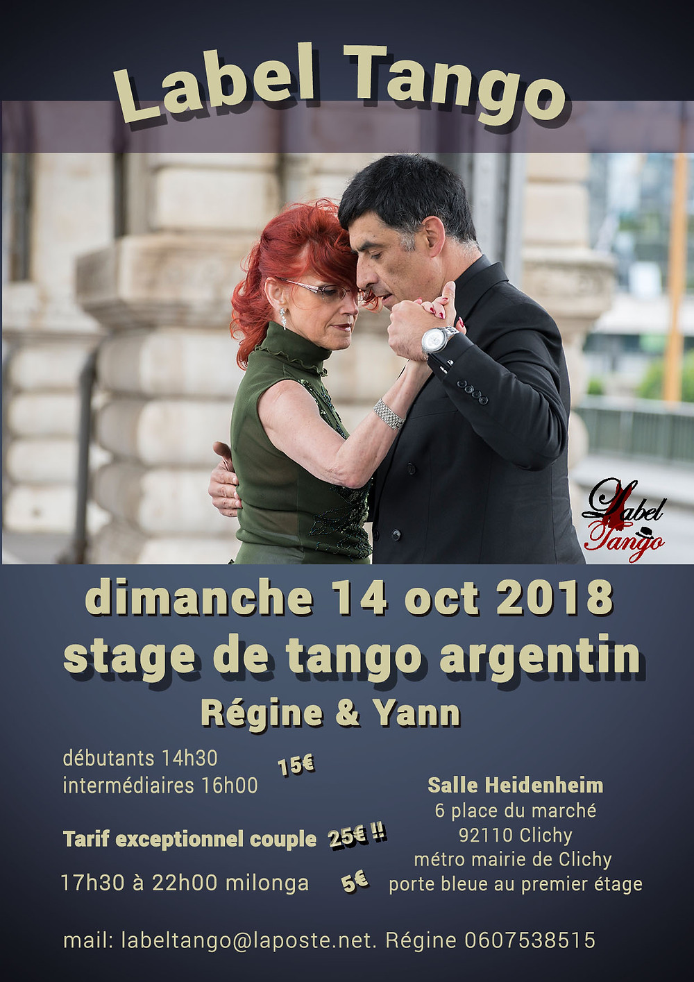 stage du 14 octobre 2018