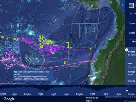 Barcos atuneros extranjeros pescan en el mar del Ecuador