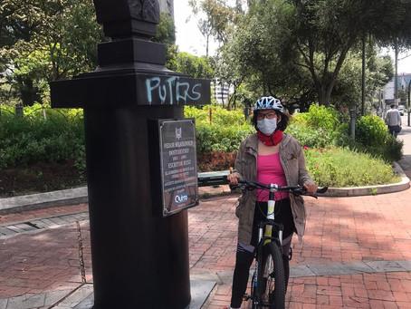 La mujer en bici aún no llega