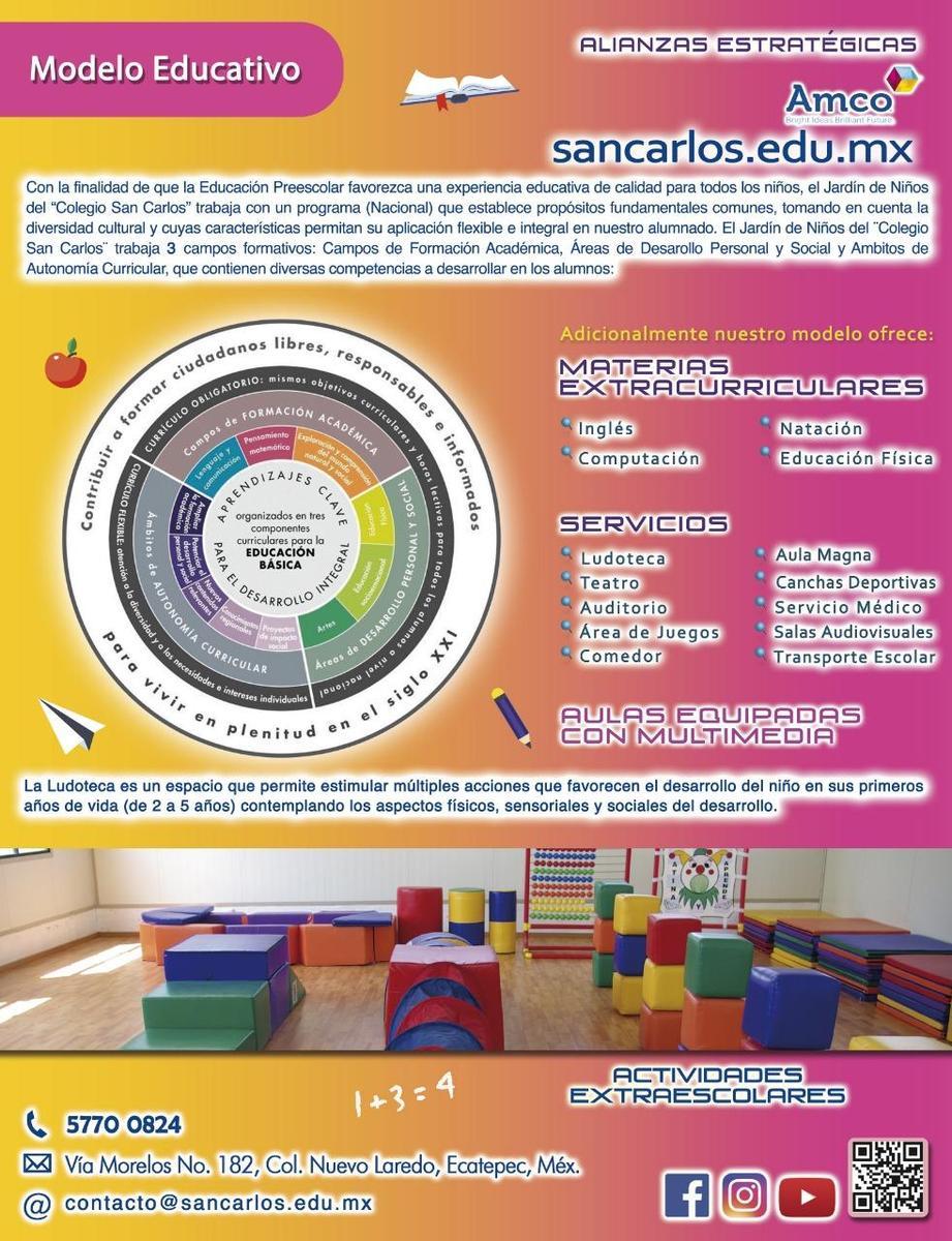 Preescolar Plan de estudios Colegio San Carlos
