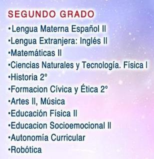 2do grado Plan de estudios secundarioa C