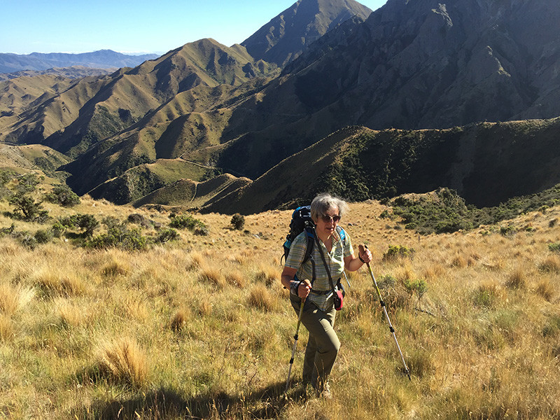 group of women hiking
