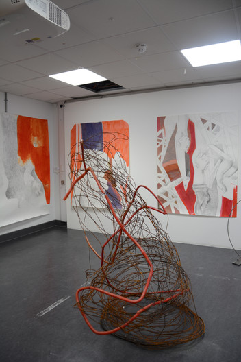 Diverse drawings & The heart of the dog Installation
