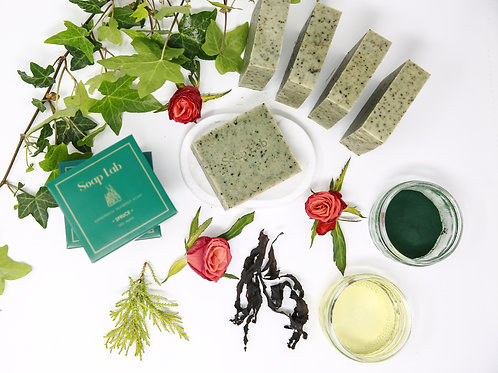 Spruce luxury seaweed soap