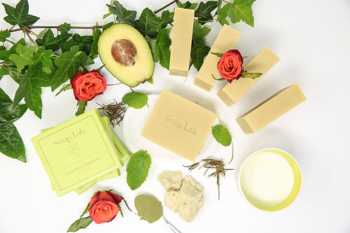 Avocado and spearmint goat's milk soap