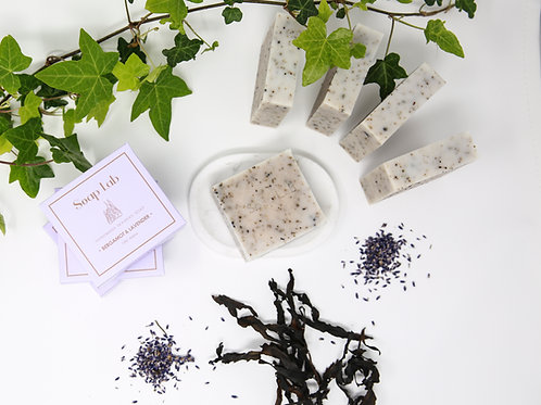 Lavender and bergamot seaweed soap
