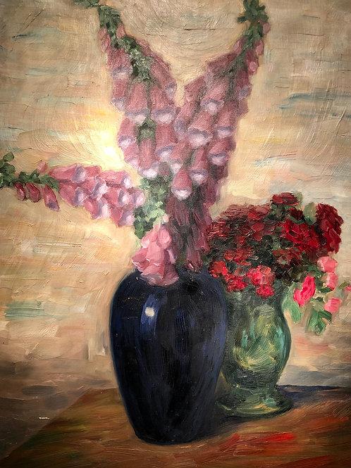 Adolf Weber (Švica, 1925 - 1996): Cvetlično tihožitje
