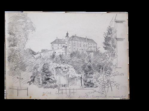 100// N. N. :  Dve skicirki motivov s Ptujskega gradu
