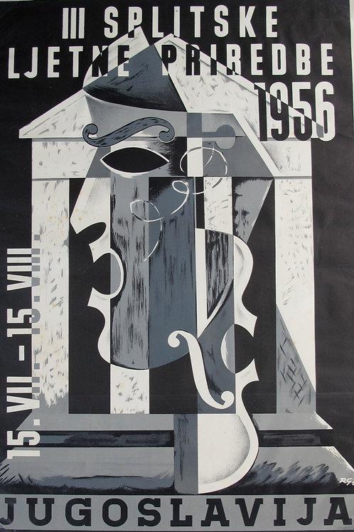 104// III. Splitske ljetne priredbe 1956 - plakat 15. VII. – 15. VIII., Jugoslav