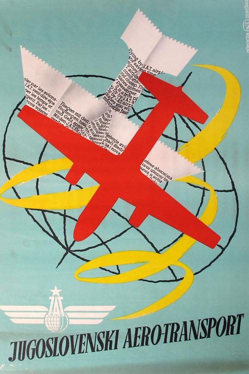 113// JAT – Jugoslovenski  aerotransport - plakat