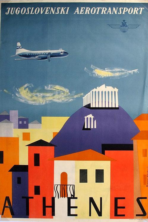 114//  Jugoslovenski aerotransport – Athenes - plakat