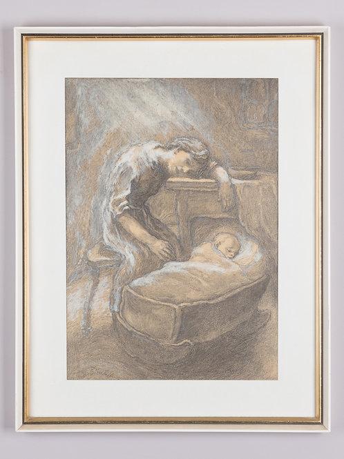 71. Fran Tratnik: Mati z otrokom (iz cikla Begunci)