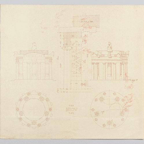 67. Jože Plečnik: Načrt za Titov paviljon na Brionih
