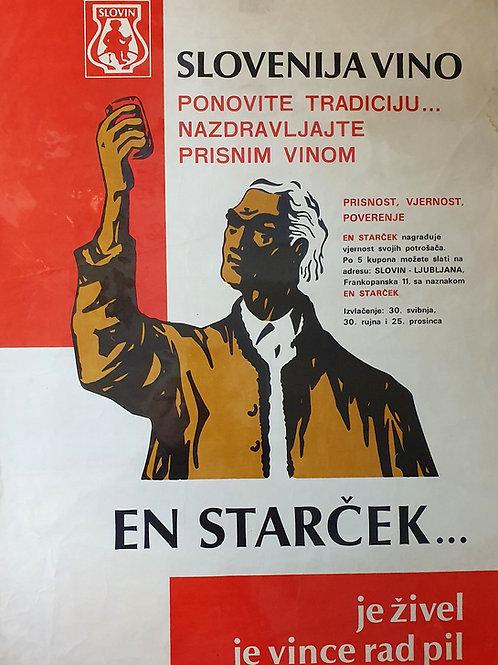 101. Plakat – En starček ... (Slovenija vino)