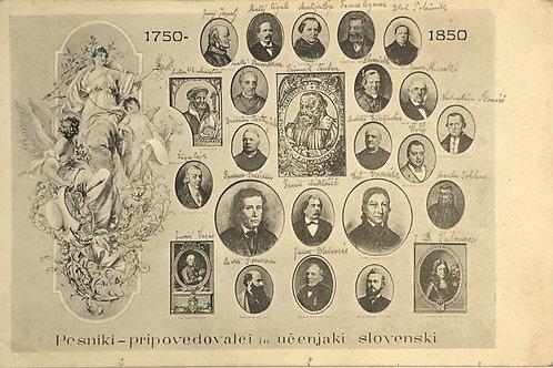 Pesniki – pripovedovalci in učenjaki slovenski, 1750–1850