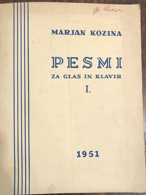 Marjan Kozina: Pesmi za glas in klavir, I.