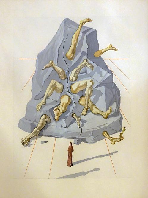 Salvador Dali: Arachne (iz cikla Božanska komedija)