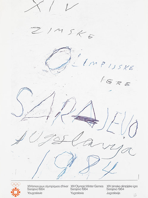 127. Cy Twombly: Plakat za Olimpijske igre v Sarajevu 1984