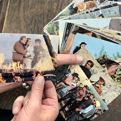 Razglednice z barvnimi prozori iz filma Winnetou – Med jastrebi