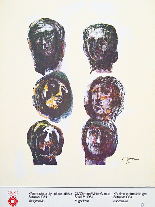 126. Henry Moore: Plakat za Olimpijske igre v Sarajevu 1984