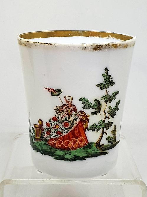Baročni kozarec z motivom plemkinje