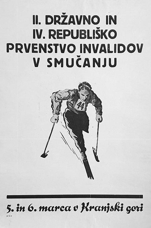 109. II. državno in IV. republiško prvenstvo invalidov v smučanju