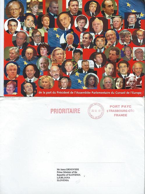 128. Čestitka za leto 2002 dr. Janezu Drnovšku