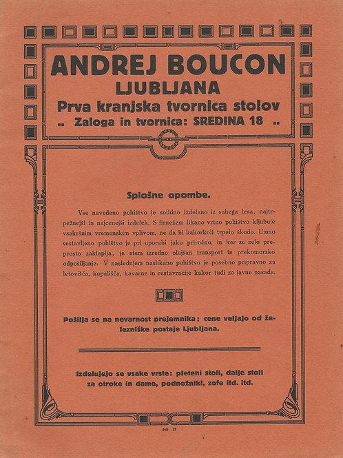129. Andrej Bavcon, Ljubljana: Prva kranjska tvornica stolov – prodajni katalog