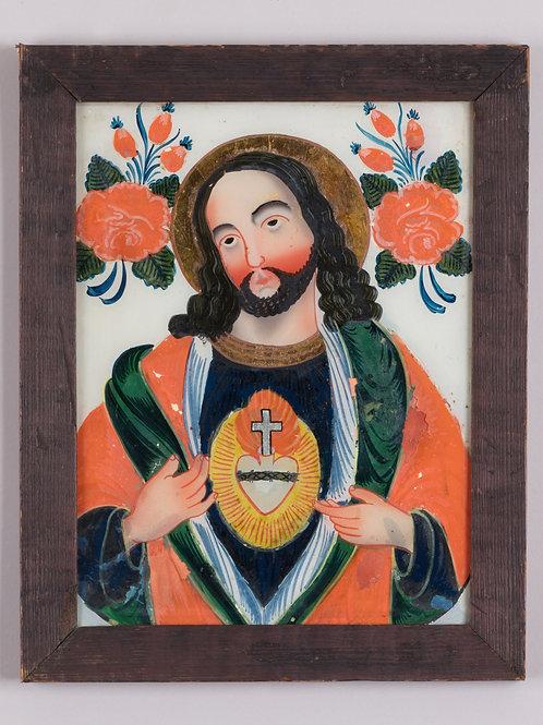 77. Slika na steklo: Srce Jezusovo