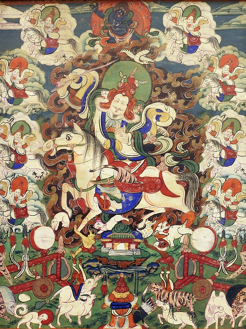 Mongolska slika na tkanino