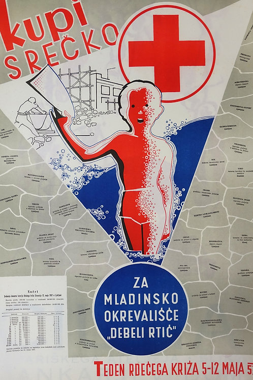 14. Rdeči križ: Kupi srečko, Za mladinsko okrevališče Debeli rtič