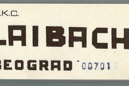 152. Blok vstopnic za Laibach koncert v Beogradu