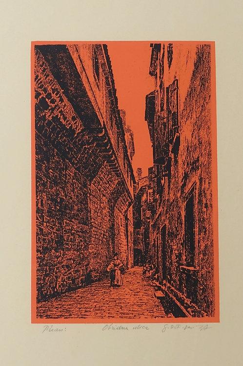70. Neznani avtor: Piran – Veduta (XVII. stol. po D. Tintorettu)