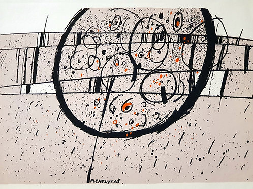 Karel Plemenitaš: Abstrakcija s krogi