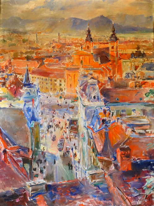 76// Ivan Vavpotič:  Pogled z Ljubljanskega gradu
