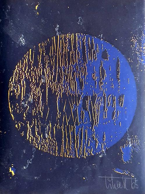 Slavko Tihec: Zlata abstrakcija na modrem