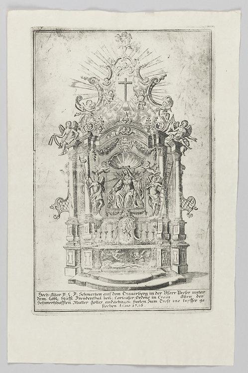 138. Franz Ambros Dietel: Čudodelna baročna podobica Žalostne Matere Božje