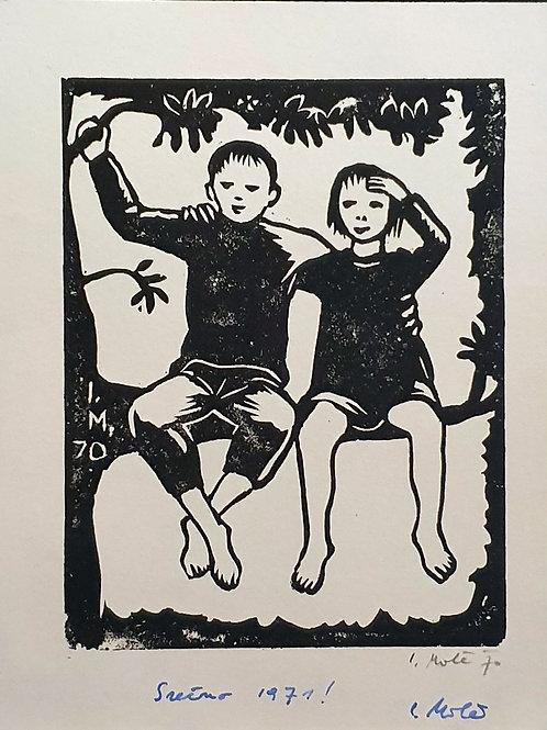Izidor Mole: Deklica in deček