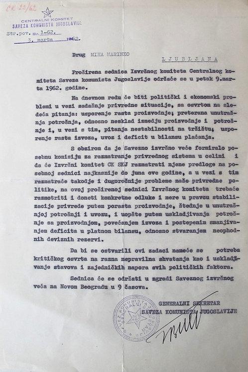 48// Josip Broz Tito: Pismo Mihi Marinku