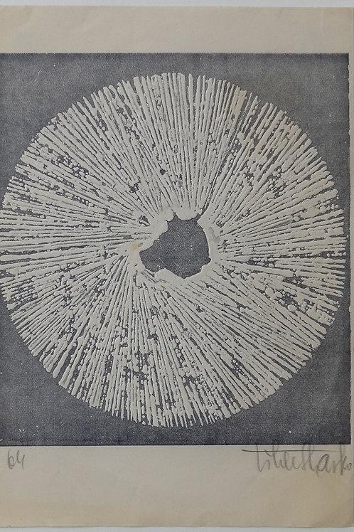 74. Slavko Tihec: Beli krog na sivem