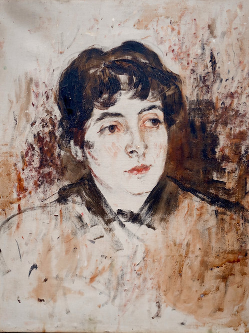 165. Ivana Kobilca: Skica za portret Fleretove, roj. Koblar