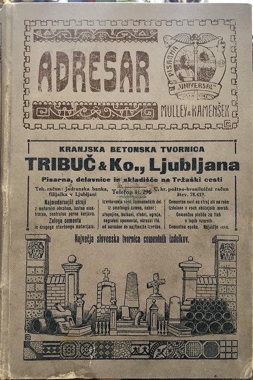 Adresar: I. Splošna naslovna knjiga za Kranjsko, 1912