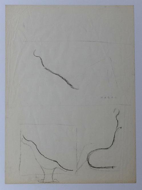 91. Marij Kogoj: Idejna skica za počivalnik Gondola (za Meblo)