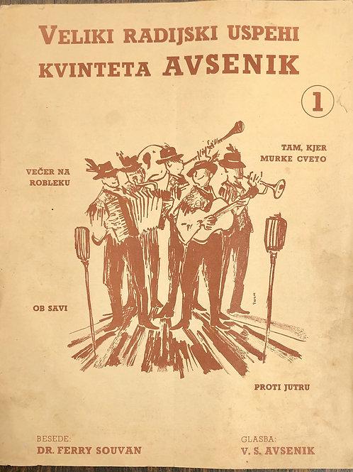Veliki radijski uspehi kvinteta Avsenik I.