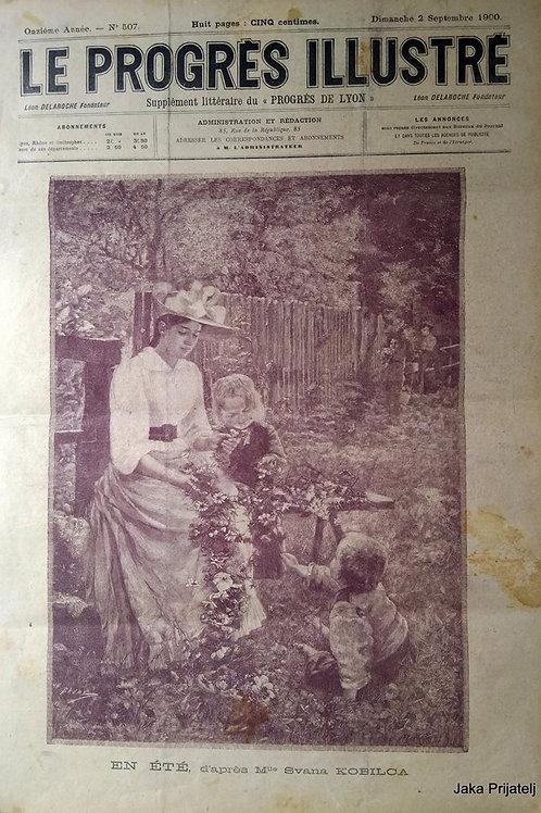 144// Objava slike Poletje Ivane Kobilca na naslovnici časopisne priloge Le prog
