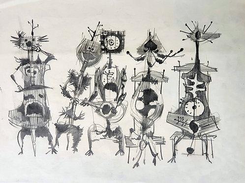 France Mihelič: Muzikanti