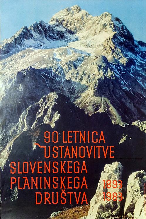12. 90 letnica ustanovitve slovenskega planinskega društva, 1883–1983