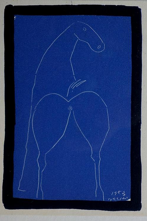 82. Marino Marini: Bel konj na modrem