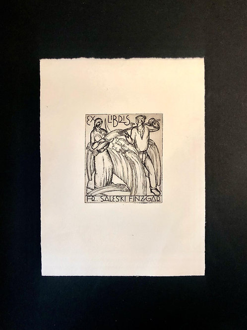 Tone Kralj: Ex libris za Frana Saleškega Finžgarja