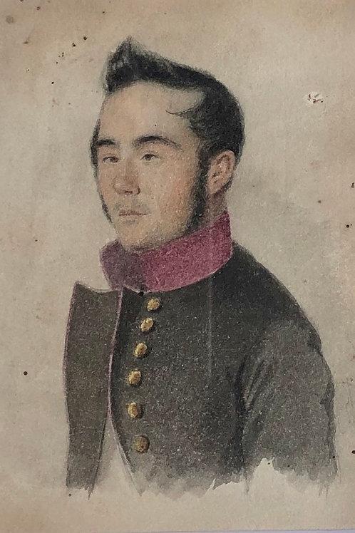Portret moškega, ki škili